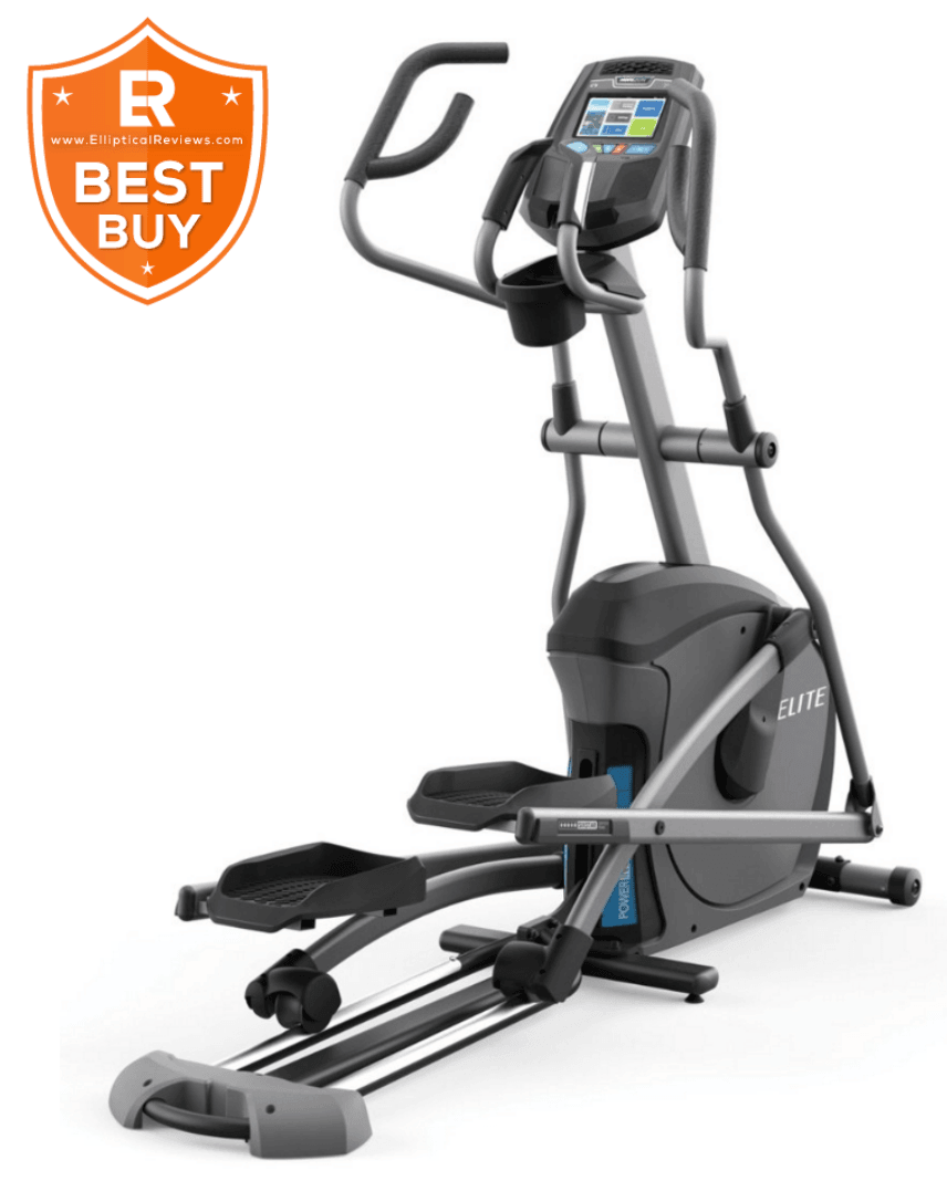 Horizon Elite E9 Elliptical Trainer Machine with best buy logo