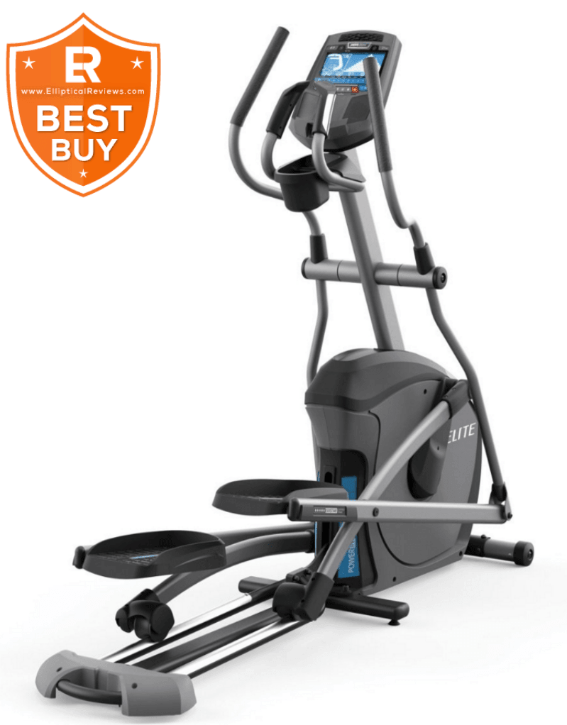 Horizon Fitness Elite E7 Elliptical Trainer Machine with best buy logo
