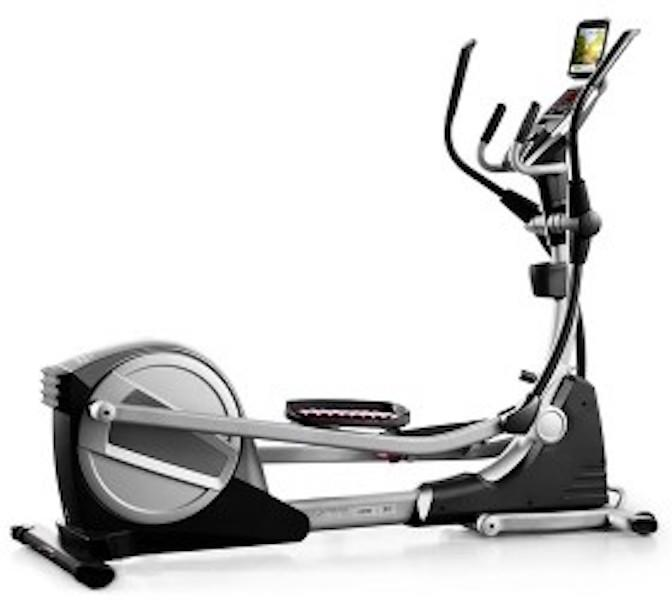 Profrom Smart Strider 695 CSE Elliptical showing the black and silver body frame
