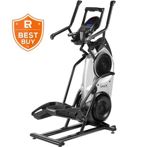 Bowflex Max Trainer M6 is a combination of black and silver body frame with 2 sets of hand grips and a console lcd for the centerpiece plus a tablet holder at the top of the console.